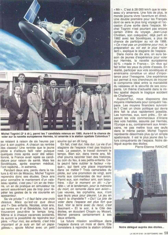 Michel Tognini - 3ème Français dans l'espace 86092412