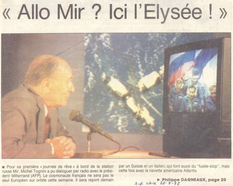 Michel Tognini - 3ème Français dans l'espace 92073010