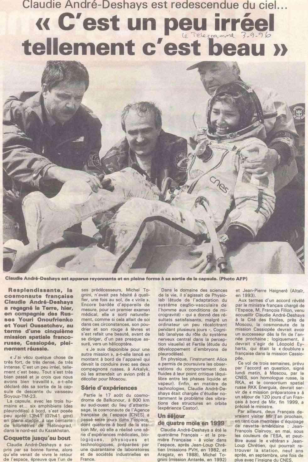Claudie Haigneré - 1ère Française dans l'espace - Page 2 96090310