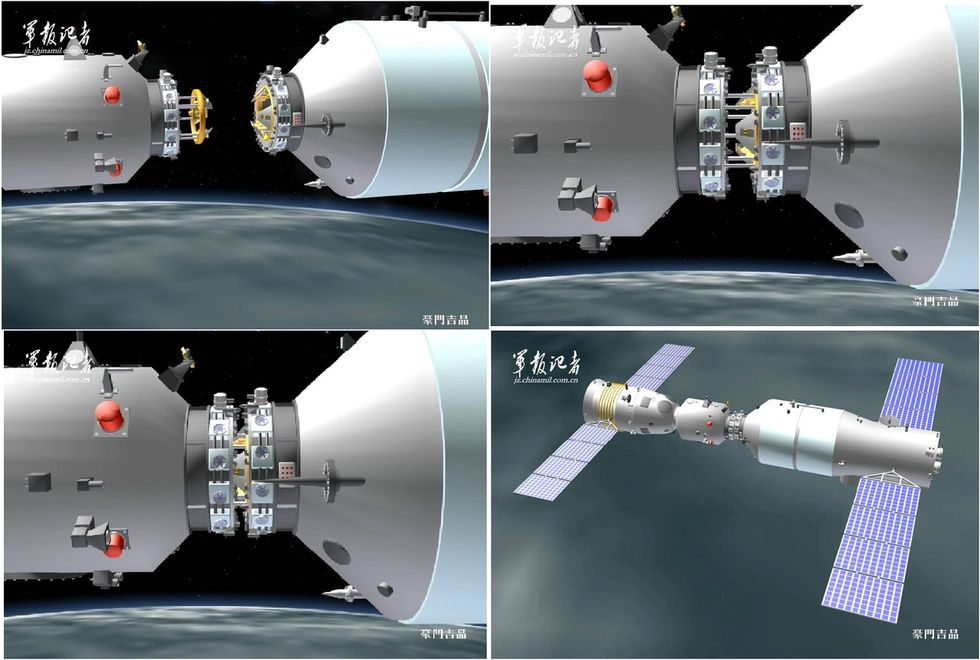 Station orbitale chinoise - Page 2 Dockin10
