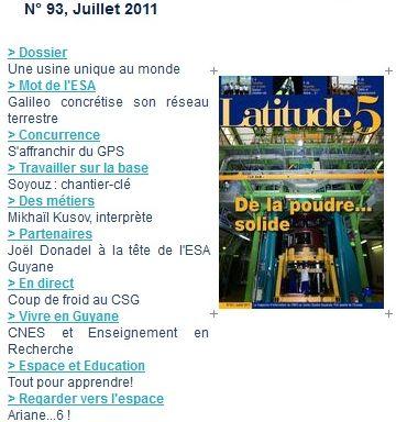 Latitude 5 le magazine de la base de Kourou Latitu10
