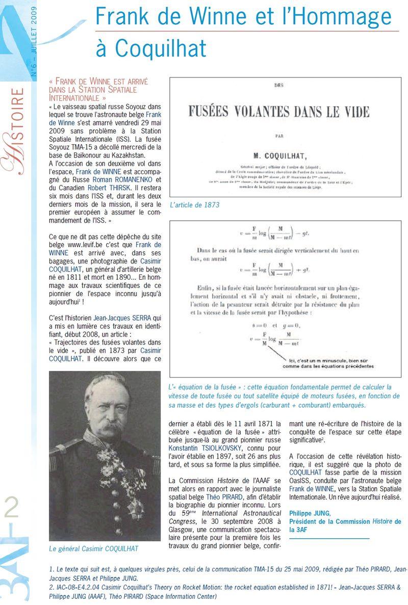 Casimir-Erasme Coquilhat, père de l'astronautique ? - Page 7 Lettre10