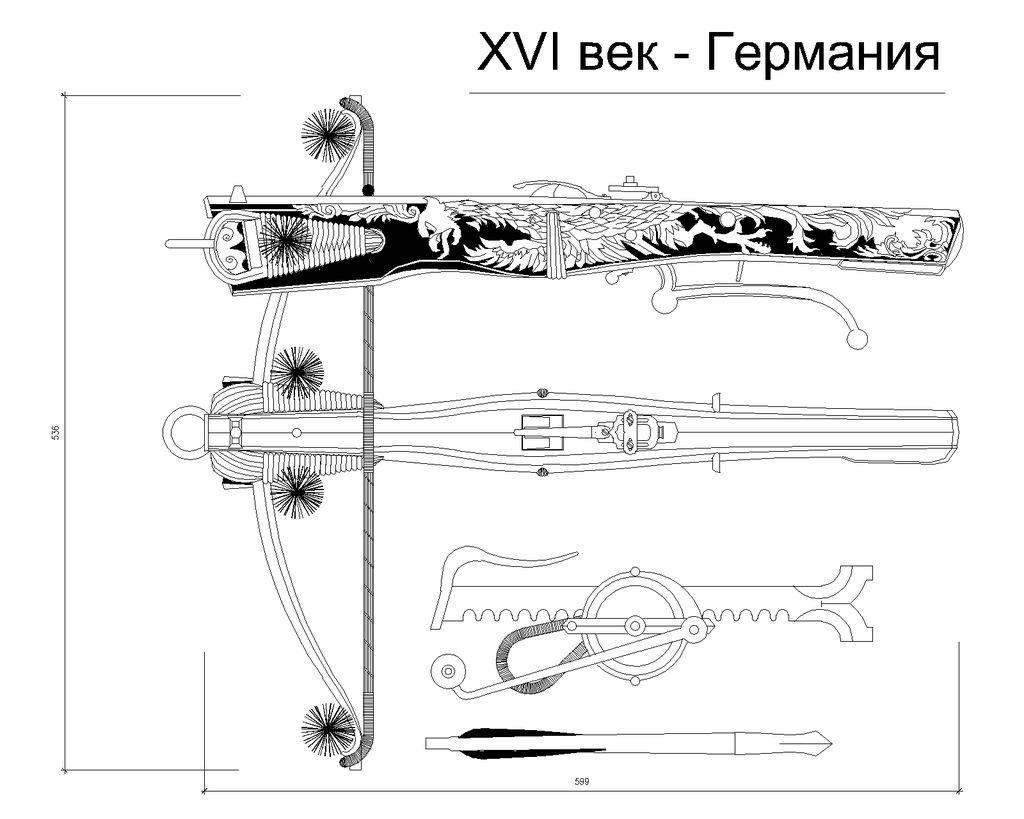 Medieval Tiller Plans (German Sporting bow) 28019110