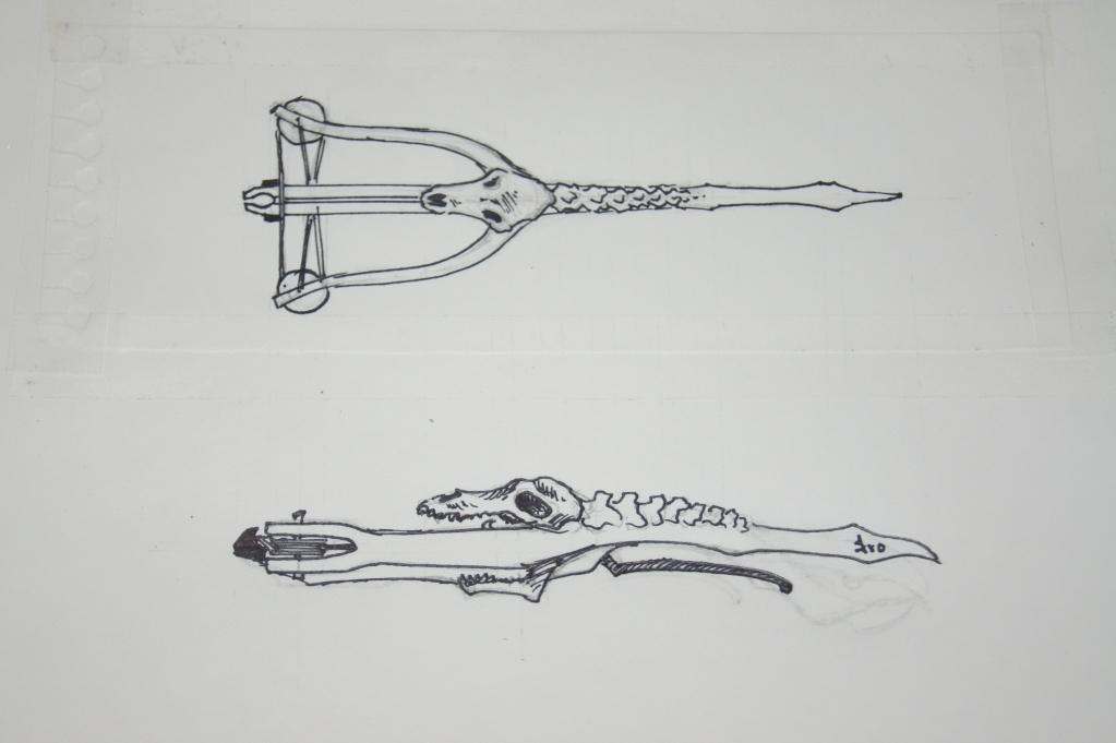 Mechanical Steampunk crossbow ideas. Dsc01613