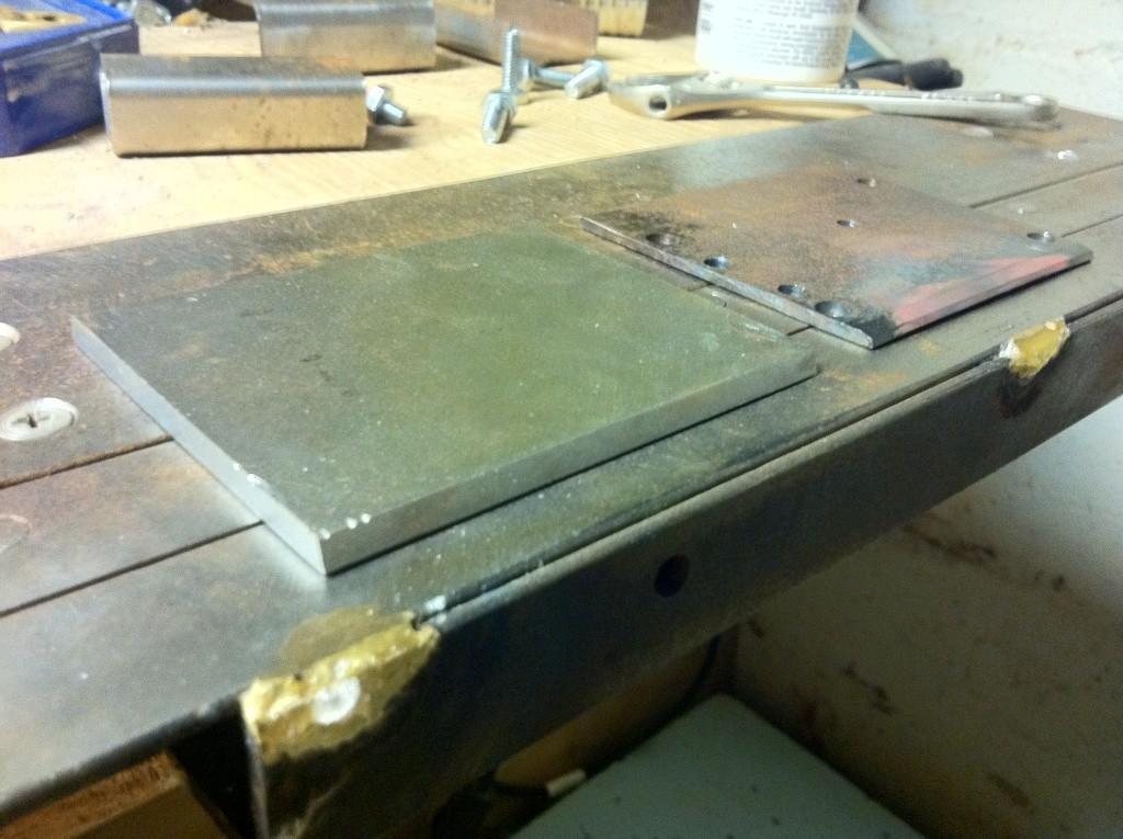 Sheet metal work in crossbow building Photo10