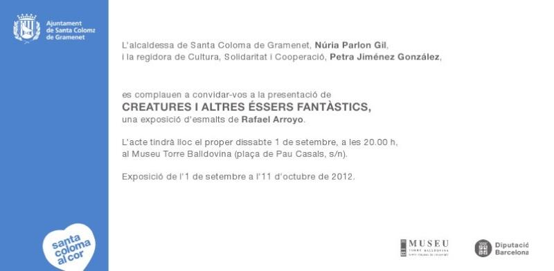 Exposición de  RAFAEL ARROYO en Santa Coloma de Gramanet  Invita11