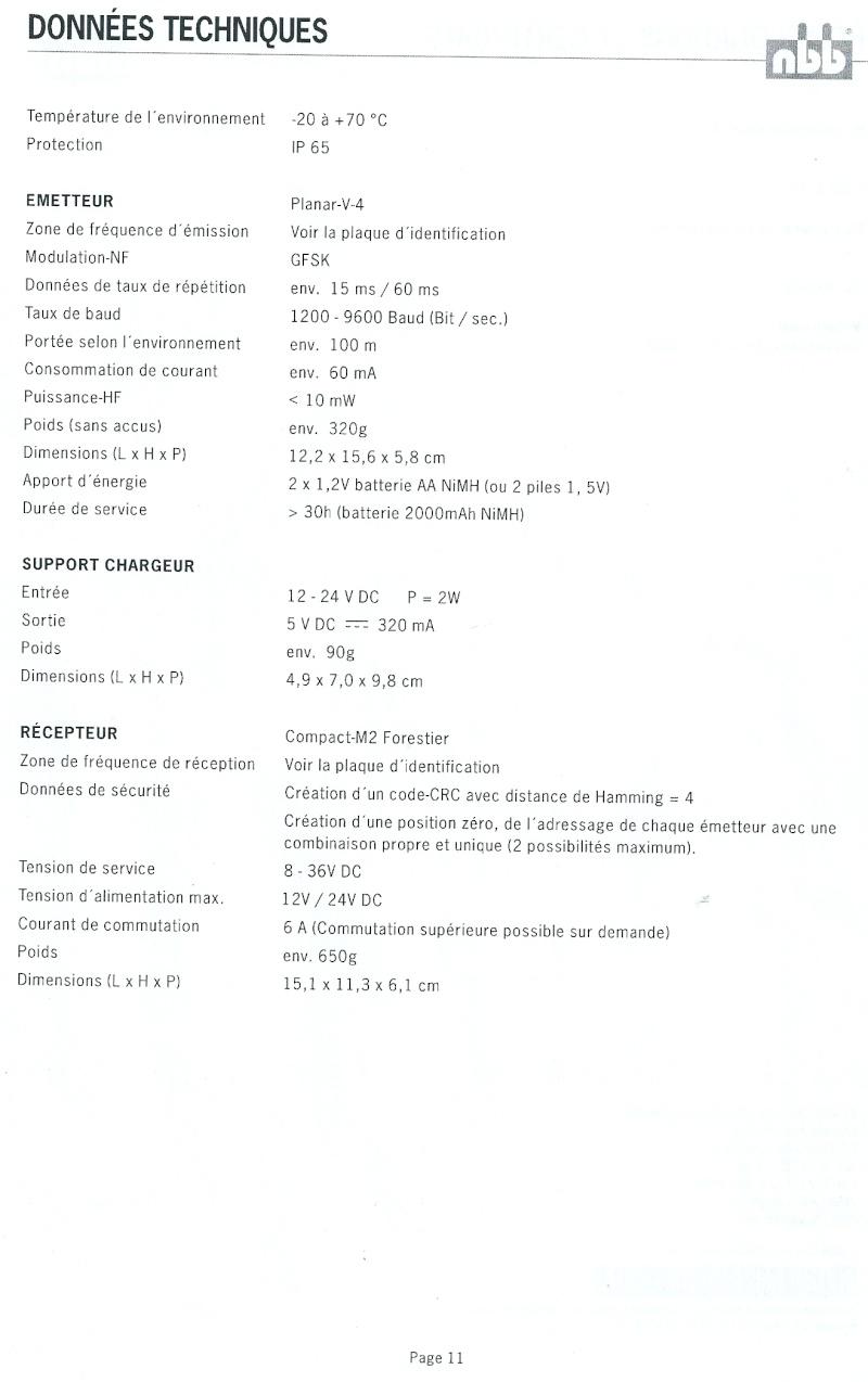 RADIO COMMANDE PLANAR V4 FORESTIER Numari14