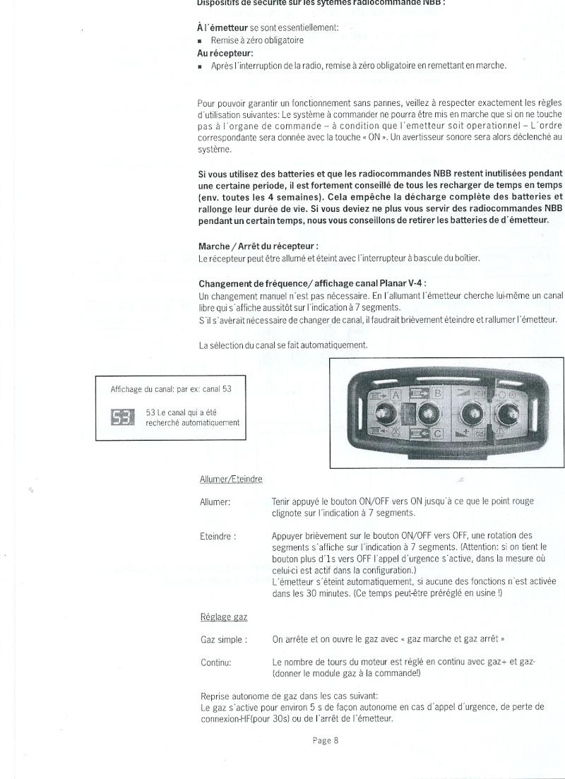 RADIO COMMANDE PLANAR V4 FORESTIER Numari22