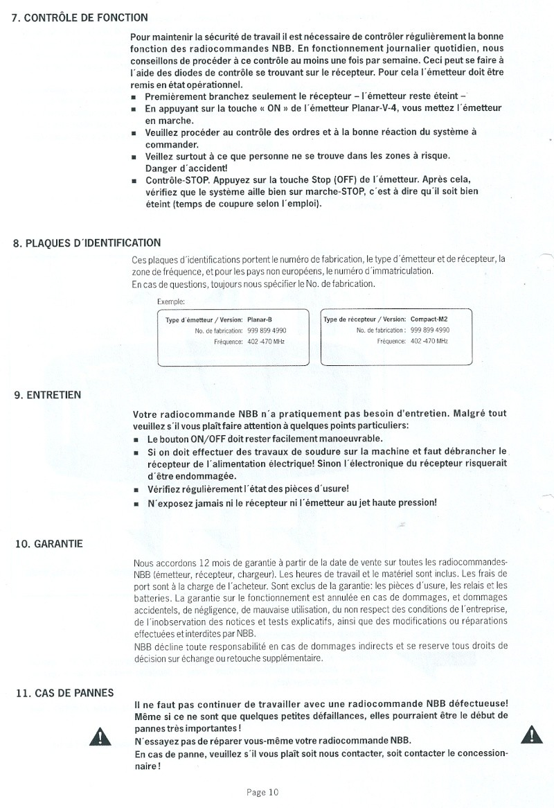 RADIO COMMANDE PLANAR V4 FORESTIER Numari24