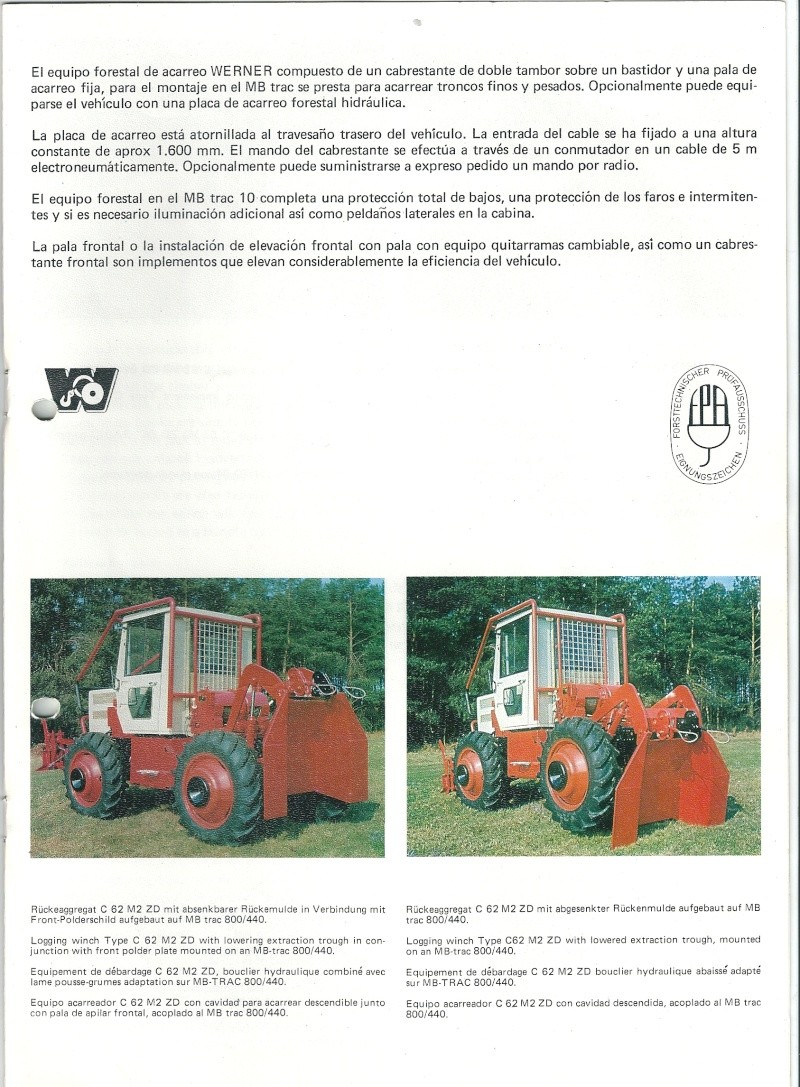 Montage forestier d'un MB Trac 800 - Page 2 Numari50