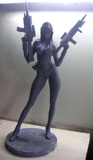 """Statue VEUVE NOIRE """"nouvelle version / variante"""" (Black Widow) Front10"""