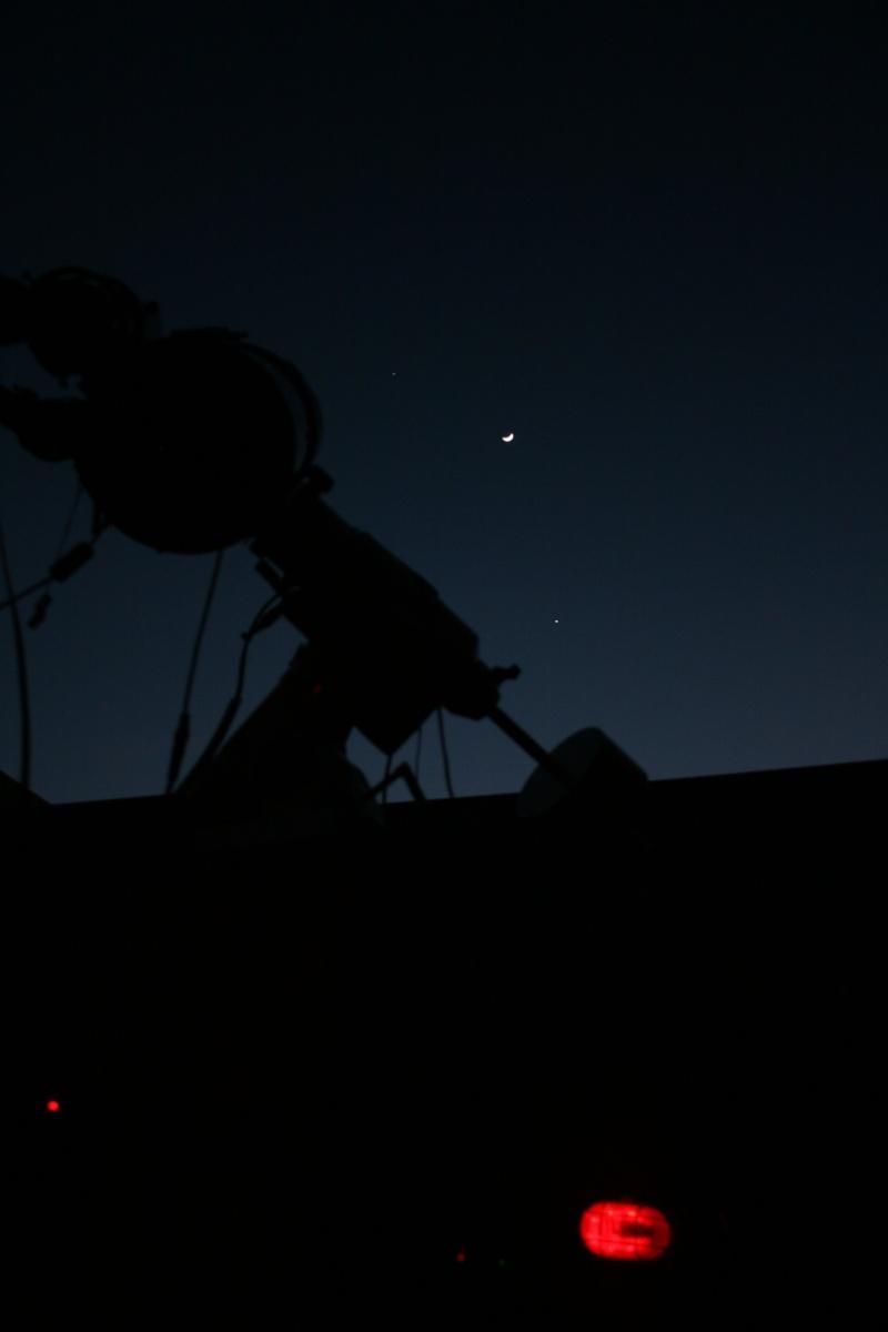 Vénus, Lune Jupiter et télescope. Img_8612