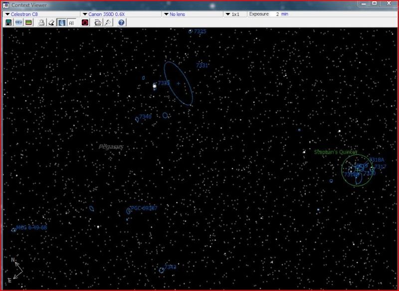 NGC 7331 et la tête de cheval Quinte10