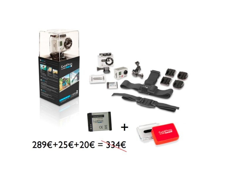 Vend caméra GOPRO2 outdoor edition NEUVE/garantie Cam10