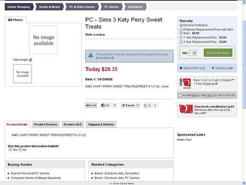 Les Sims™ 3 : Katy Perry Délices Sucrés Kit 70008010