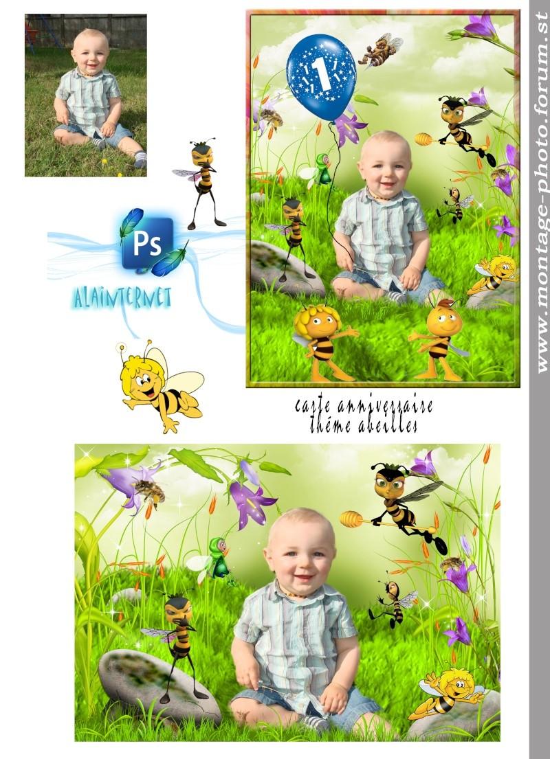 cartes anniversaire - Page 9 Abeill10