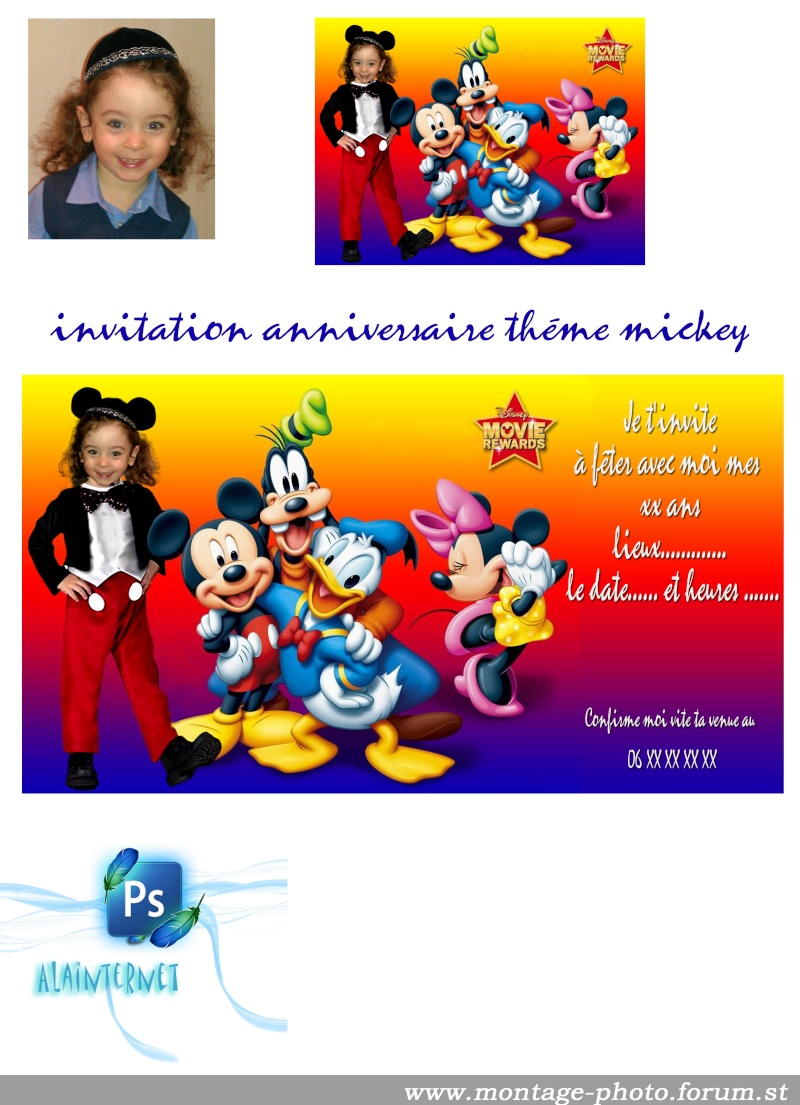 cartes anniversaire - Page 8 Mickey36