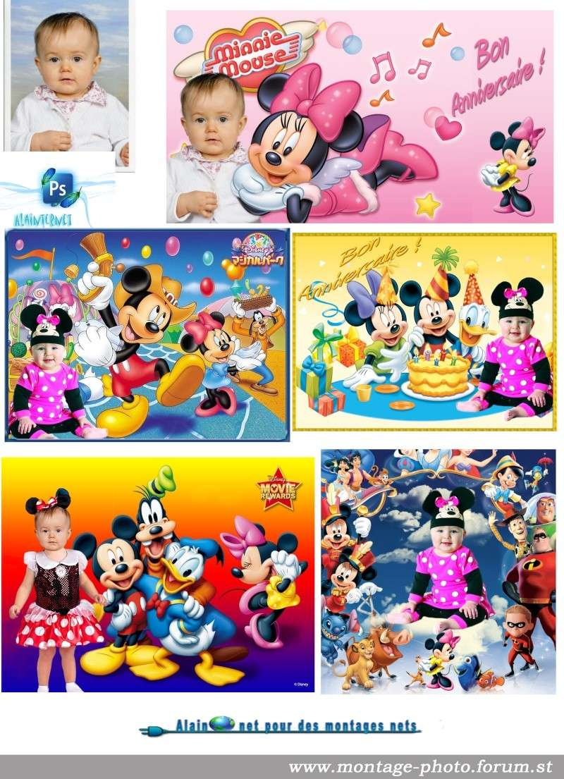 cartes anniversaire - Page 8 Minnie12