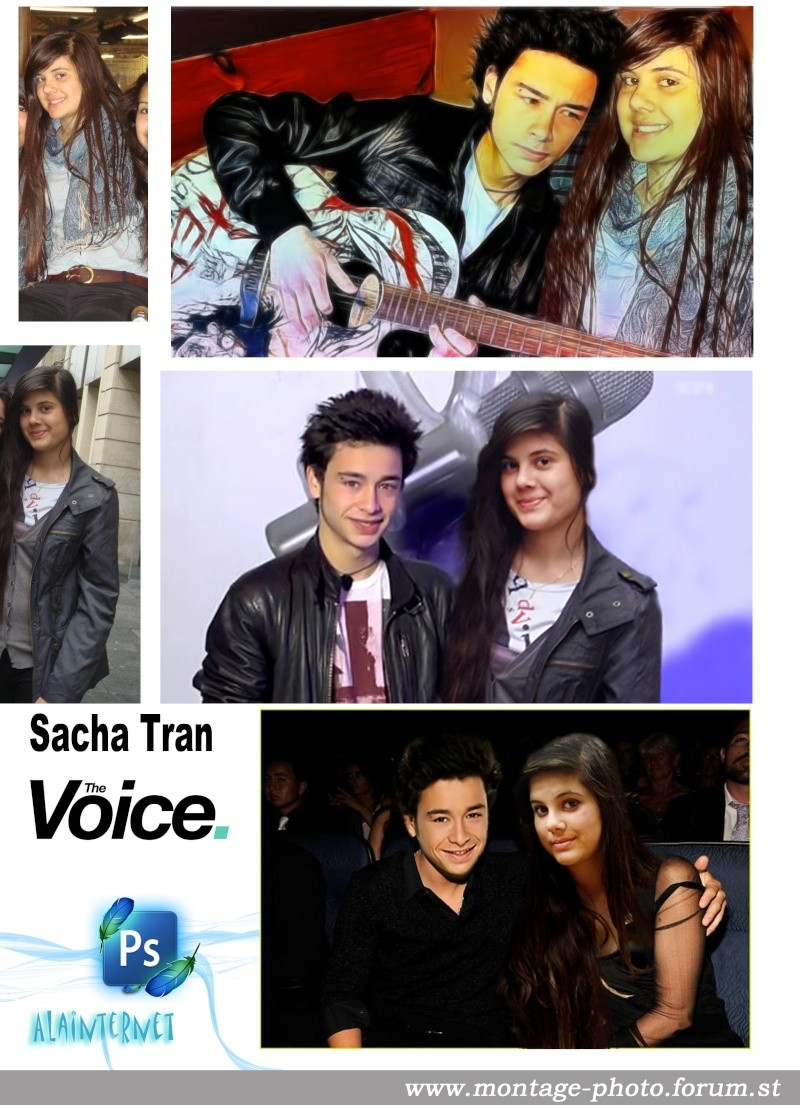 montage avec célébritées Voice10