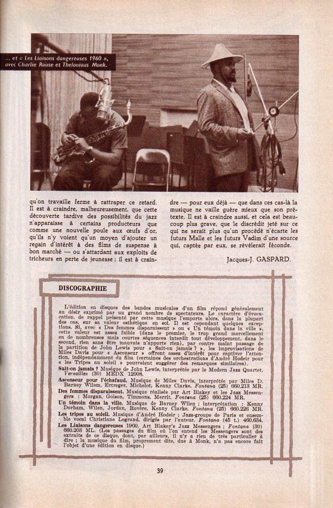 Jazz dans la presse Française! Musica17