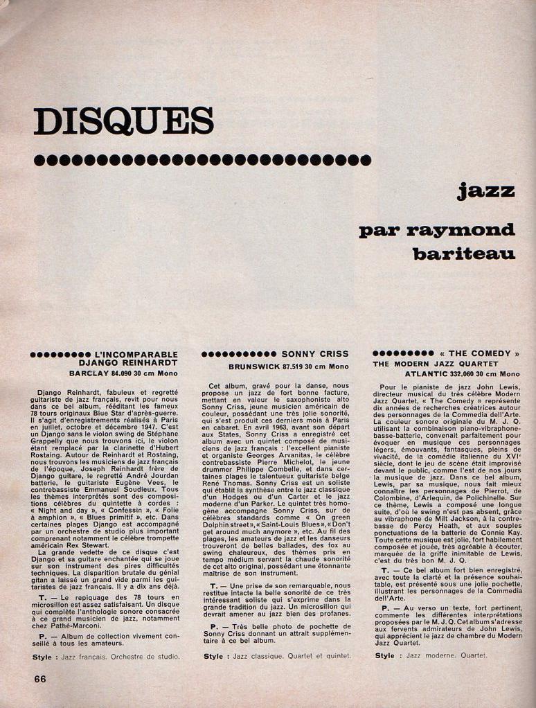 Jazz dans la presse Française! Musica18