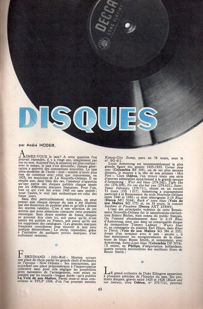 Jazz dans la presse Française! Musica21