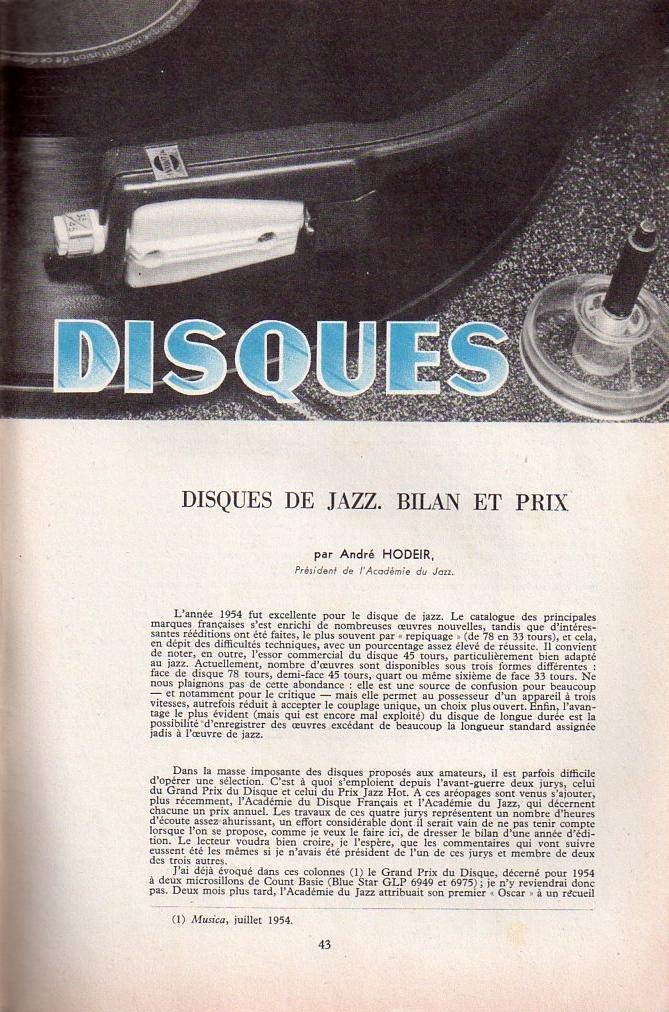 Jazz dans la presse Française! Musica25