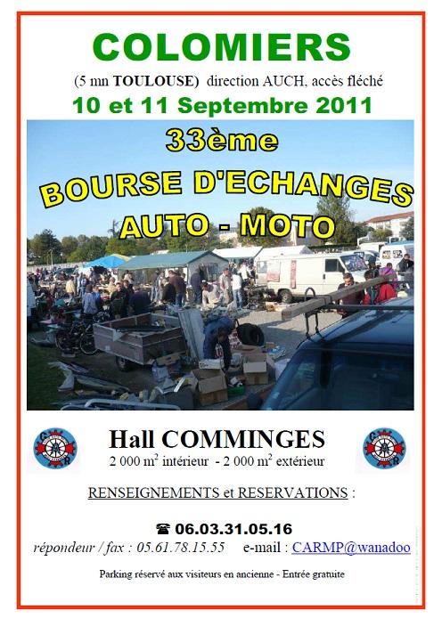 3eme Bourse d'échange de Colomiers les 10 & 11 Septembre Affich10