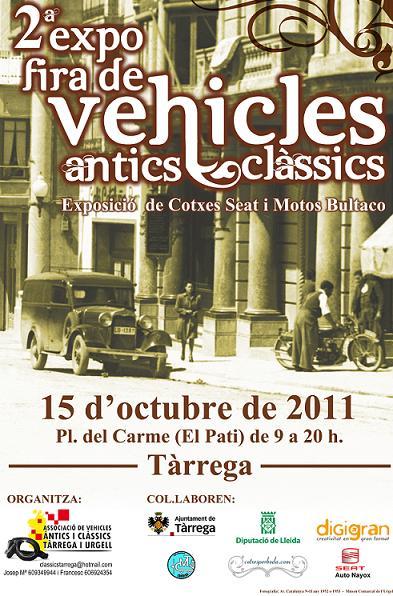 2ª Expo-Feria de Clásicos de Tarrega (15/10/2011) Cartel10