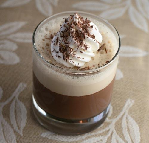 Bitter Chocolate Pannacotta with Espresso Cream Chocpa10