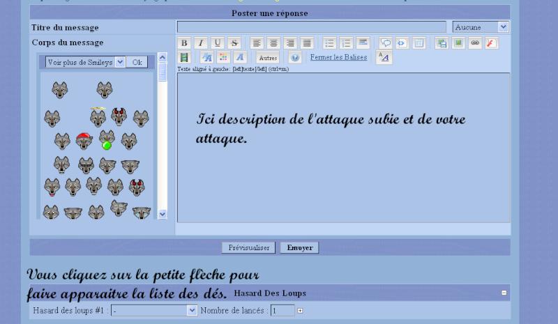 """16 ♦ Les combats """" officiels """" : Explication des dés Da210"""