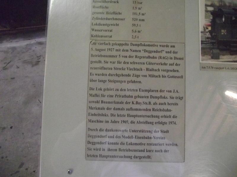 "Dampflokomotive R.A.G. Nr. 5 ""Deggendorf"" Beis_165"