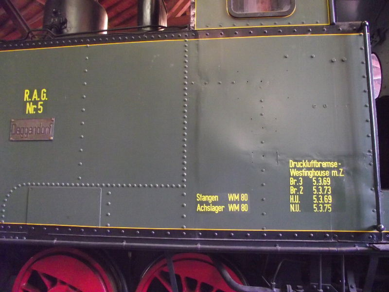 "Dampflokomotive R.A.G. Nr. 5 ""Deggendorf"" Beis_176"