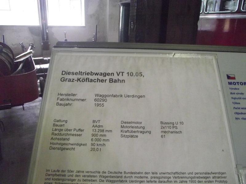 Dieseltriebwagen VT 10.05 Graz Köflacher Bahn Beis_280