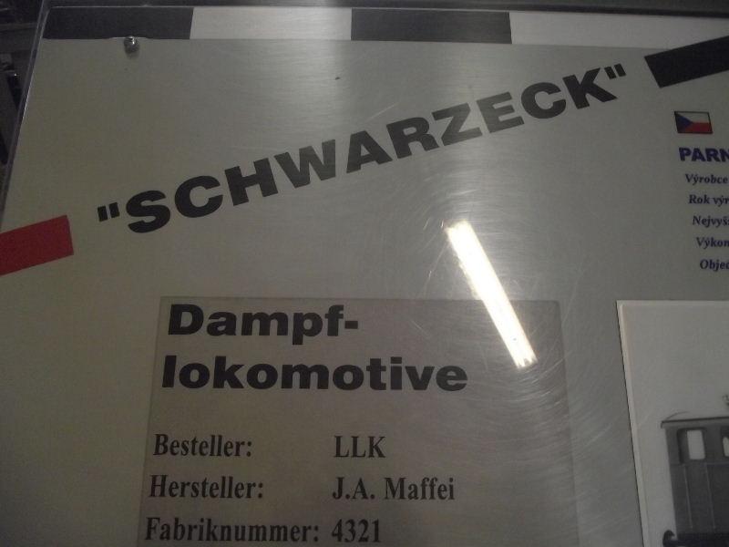 """Dampflokomotive LLK """"SCHWARZECK"""" Beis_301"""