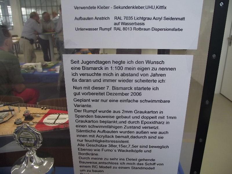 Bismarck 1:100 Karton. Fw120304