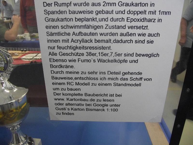 Bismarck 1:100 Karton. Fw120305