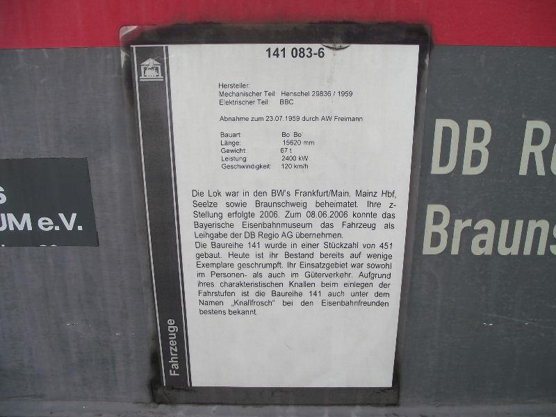 Die E-Lok Baureihe 141 / E41 der DB, der Knallfrosch Nord_493