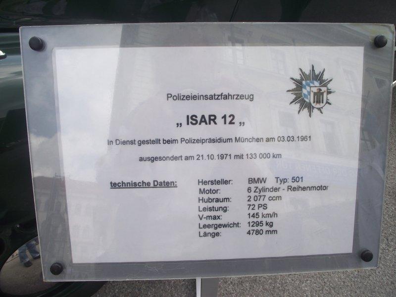 """BMW Typ 501 """"ISAR 12"""" Tagoff18"""