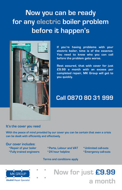 Electric Boiler Insurance £9.99 a month Oversi15