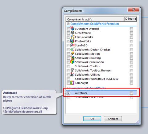 Utilisation d'un scan sous SolidWorks