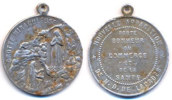 medaille en alu de Lourdes Scann110