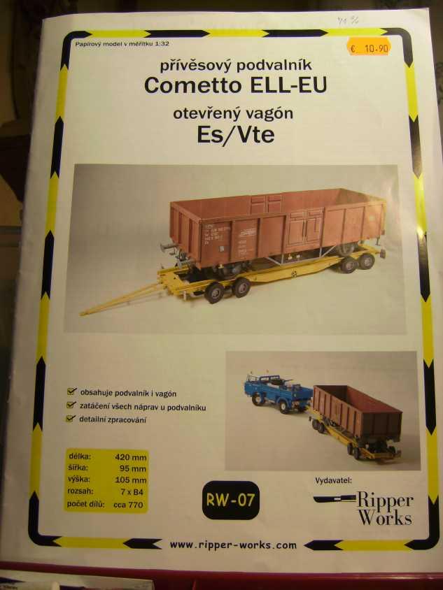 """Strassenroller mit Eisenbahnwagen, 1:32 von """"Ripper Works"""" Bild7030"""