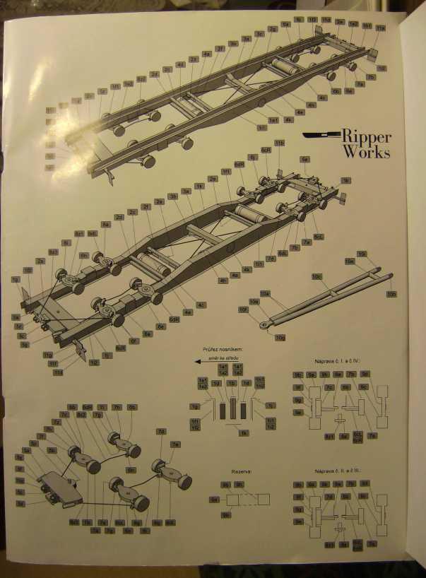 """Strassenroller mit Eisenbahnwagen, 1:32 von """"Ripper Works"""" Bild7032"""