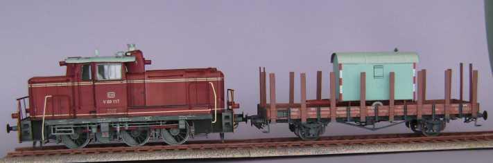 Rungenwagen der DRG von HS-Modellbau, 1:45 Bild7246