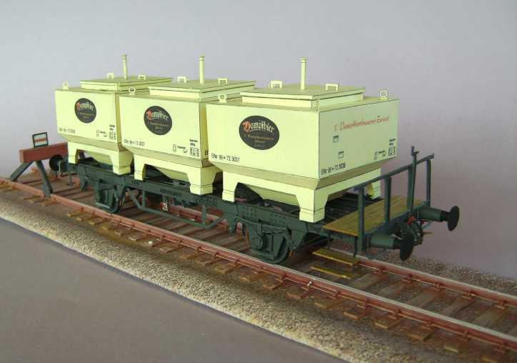 Gerstetransportwagen der 1.Dampfbierbrauerei Zwiesel       in 1:45 von HS-Design Bild7365
