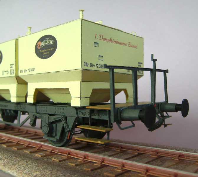 Gerstetransportwagen der 1.Dampfbierbrauerei Zwiesel       in 1:45 von HS-Design Bild7369