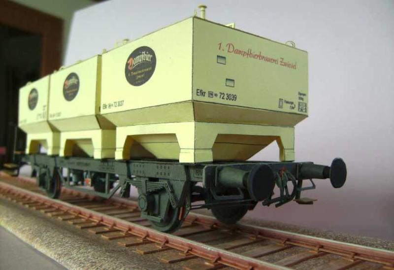 Gerstetransportwagen der 1.Dampfbierbrauerei Zwiesel       in 1:45 von HS-Design Bild7370