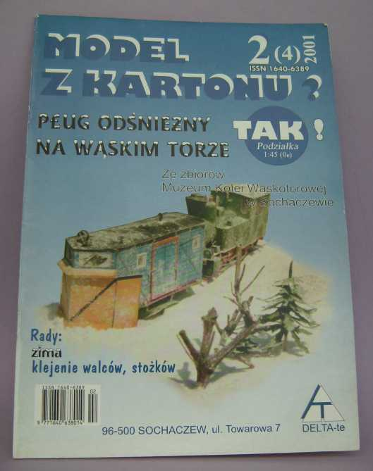 Schmalspurschneepflug von DELTA-T, 1:45 Bild7421