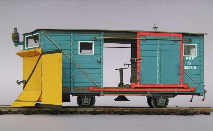 Schmalspurschneepflug von DELTA-T, 1:45 Bild7427